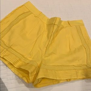 New with tags J.Crew yellow shorts